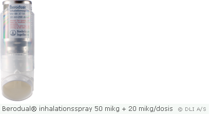 Berodual® inhalationsspray 50 mikg + 20 mikg/dosis