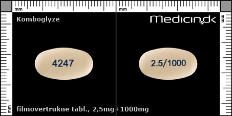 filmovertrukne tabletter 2,5mg+1000mg