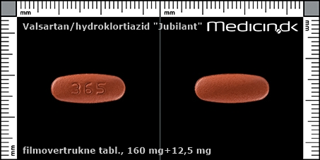 filmovertrukne tabletter 160 mg+12,5 mg