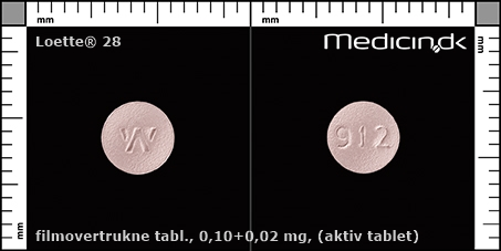 filmovertrukne tabletter 0,10+0,02 mg (aktiv tablet)
