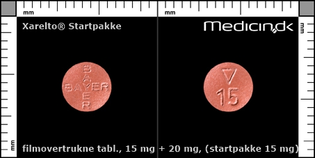 filmovertrukne tabletter 15 mg + 20 mg (Startpakke 15 mg)